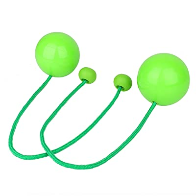 """YuXing Pair of Professional Contact Poi Juggling Balls with 3.4"""" Stage Ball and 19.3"""" Nylon Cord: Toys & Games"""