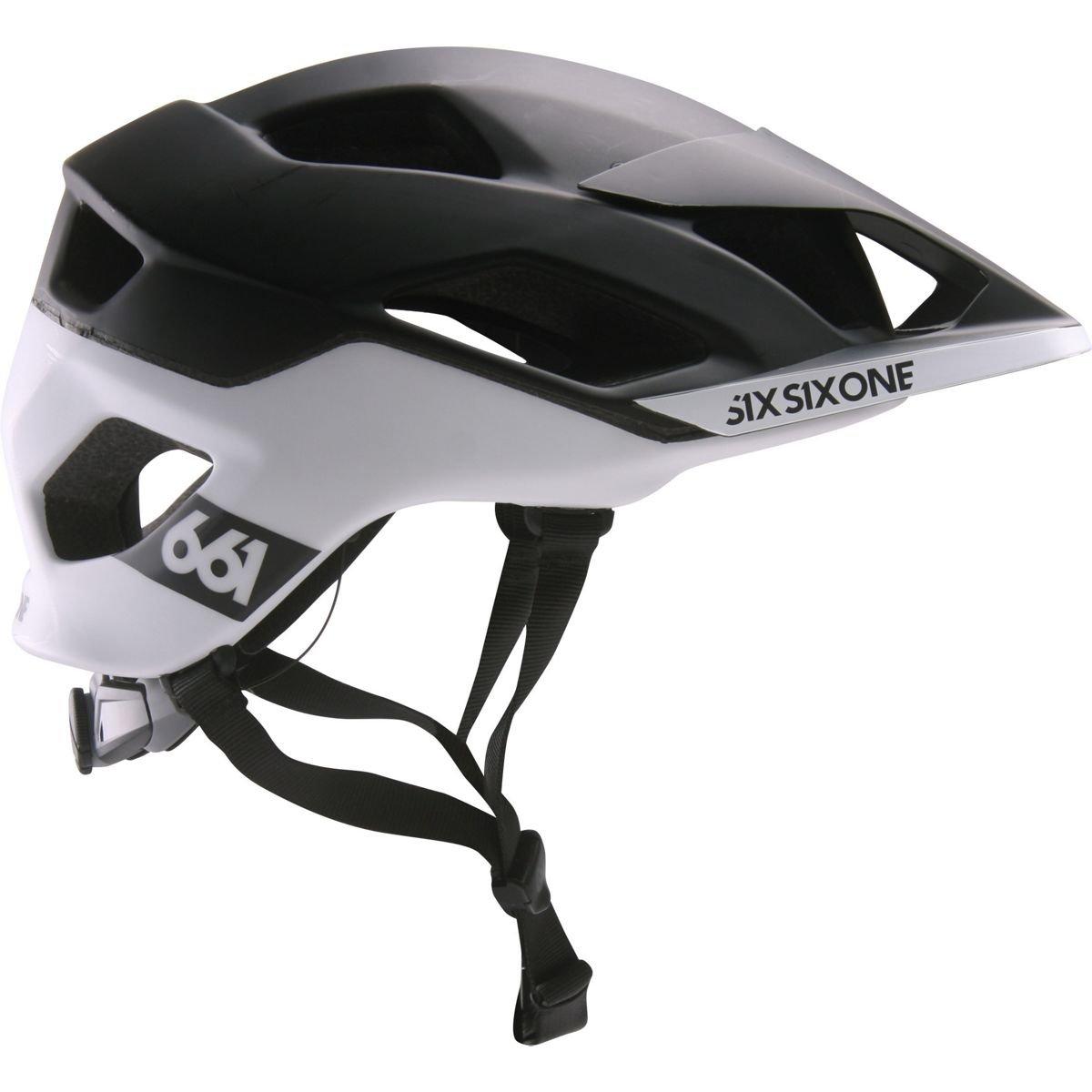 Sixsixone Evo AM Patrol Casco, Black/White, XL de XXL