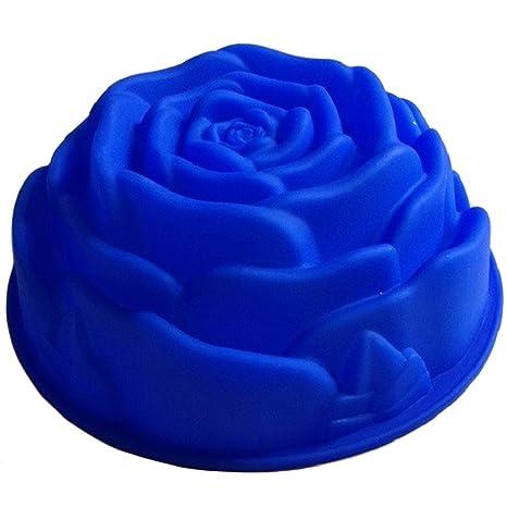 Volar rosa flores cumpleaños Cake Pan Tart lata de flan molde de silicona moldes