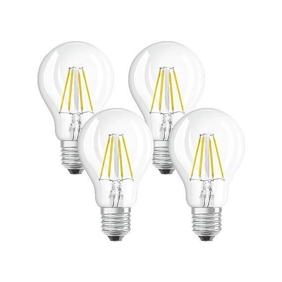 Osram 042865 Bombilla LED E27, 4 W, Blanco 4 Unidades: Amazon.es: Iluminación