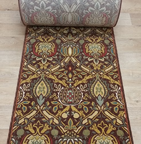 (137124 - Rug Depot Momeni Nouveau NV-01 Cocoa Transitional William Morris Hall and Stair Runner - 30