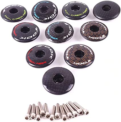 """MTB Bike Stem Top Cap Cover Bolt For 1 1//8/"""" Steerer Steerer Fork Tube Headset"""