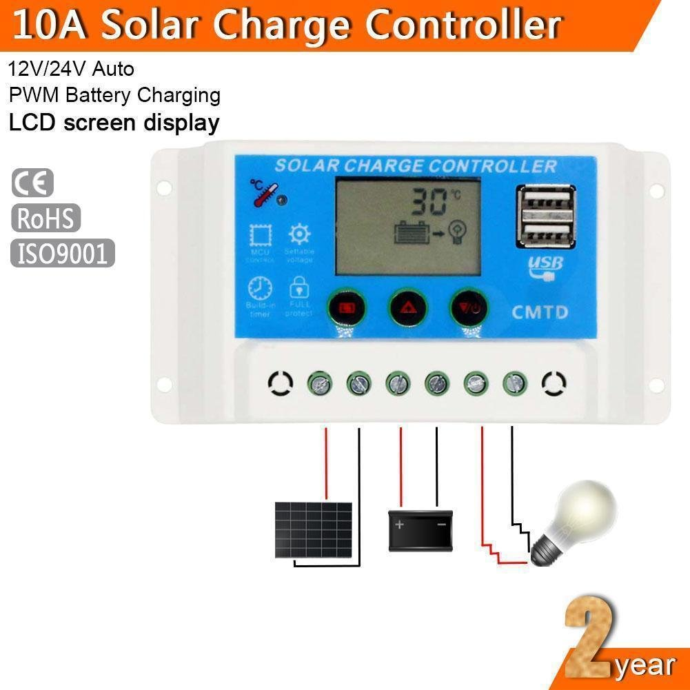 Sun Yoba 20a 12v 24v Solar Controller Panel Charge Pwm Mode 6a Small Control Ce With Usb Port Automotive