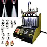 Autool 6/4 Cylinder Car Auto Ultrasonic Injector Cleaning Tester machine 110V Support Motorcycle Fuel Cleaning Tools With 6pc