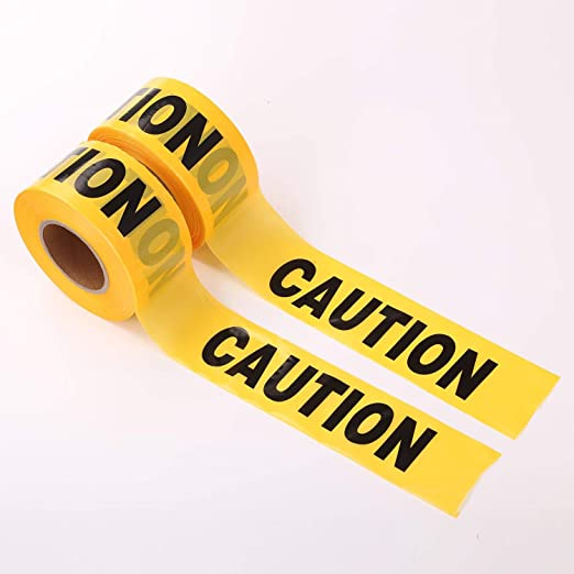 Roll of Yellow Caution Safety Tape Warning Barrier