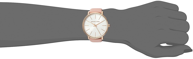 2d7149b6f42b6f Amazon.com: Michael Kors Women's Stainless Steel Quartz Watch with Leather  Calfskin Strap, Pink, 18 (Model: MK2741): Watches