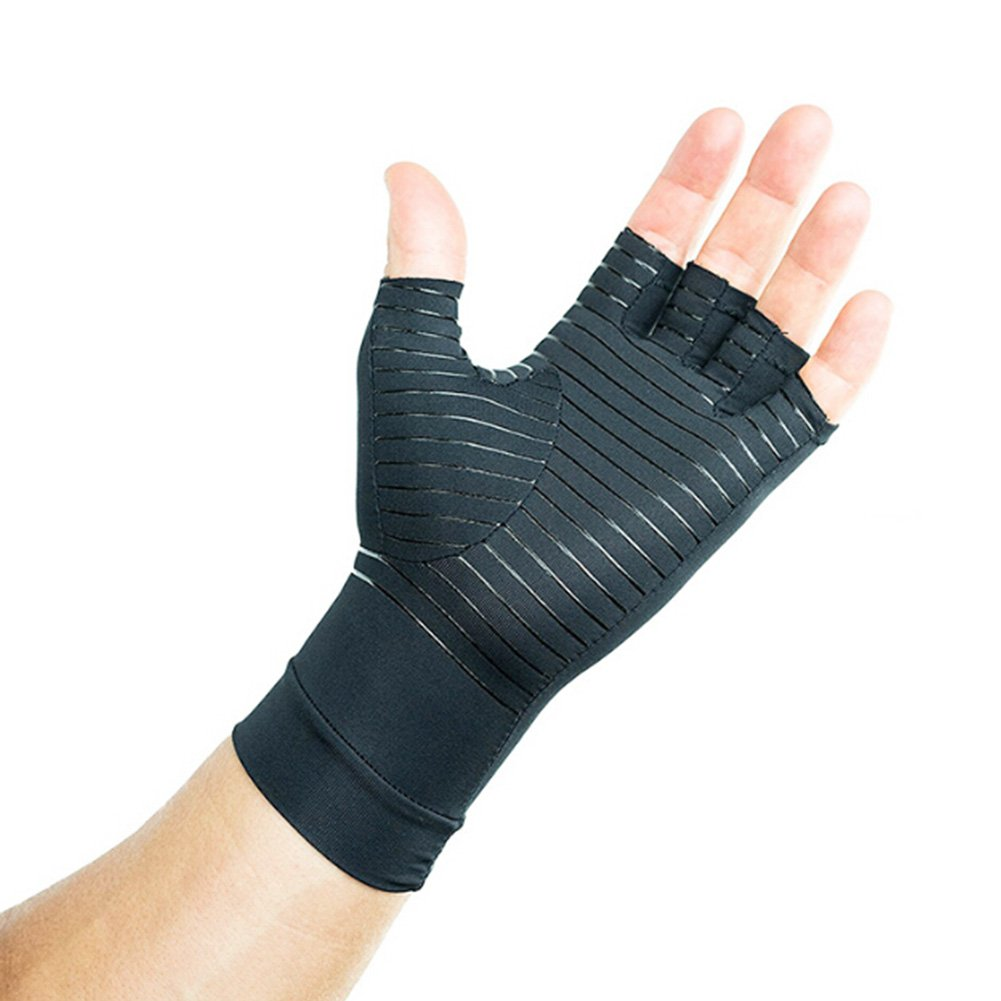 BUYITNOW Compression Arthritis Gloves Infused with Copper, Wrist Support Brace, Hand Wrist Support Gloves Therapy Arthritis Compression for Men & Women by BUYITNOW