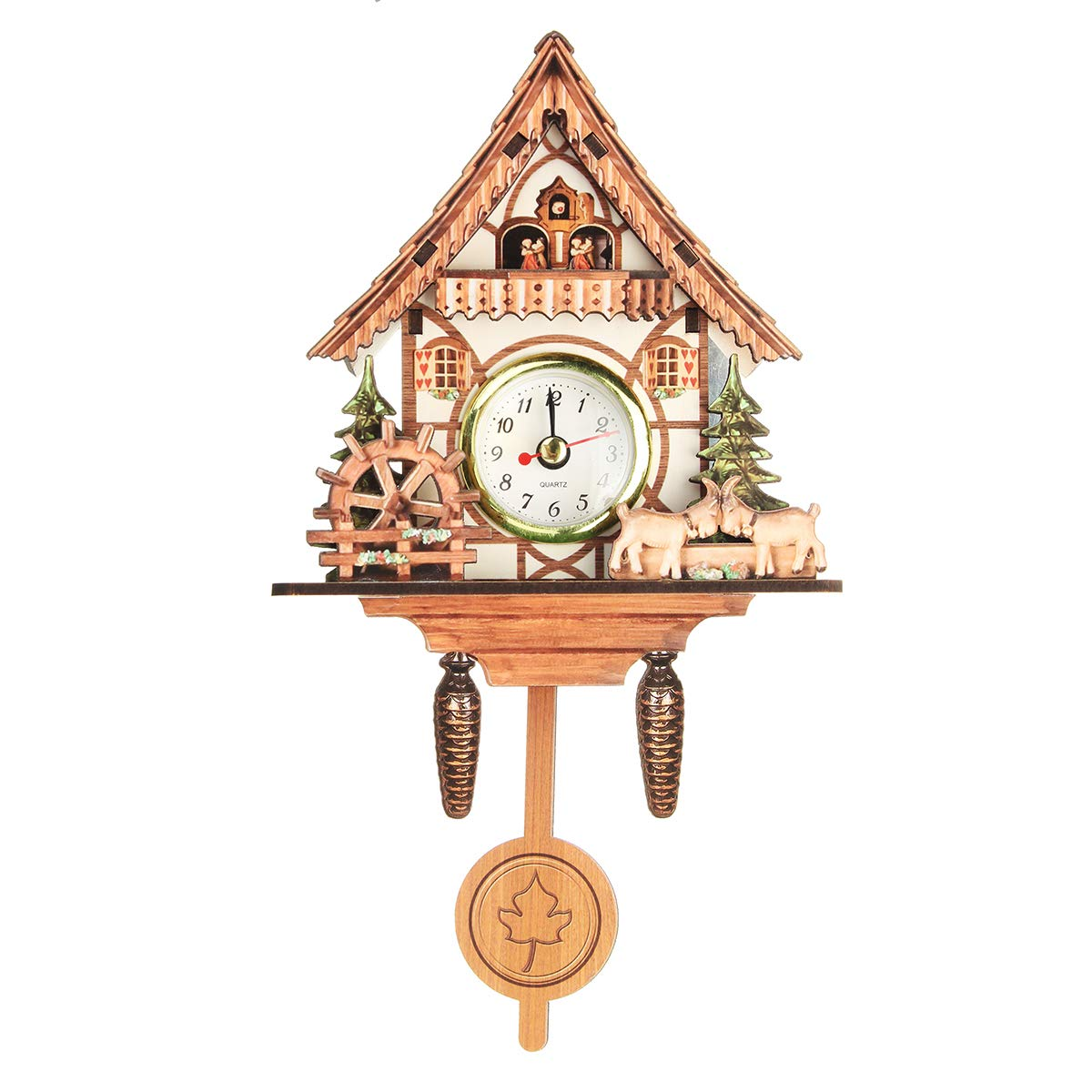 Vintage Mini Cuckoo Wall Clock Bird Time Bell Chic Swing Alarm Watch Decorations Home Wall Art
