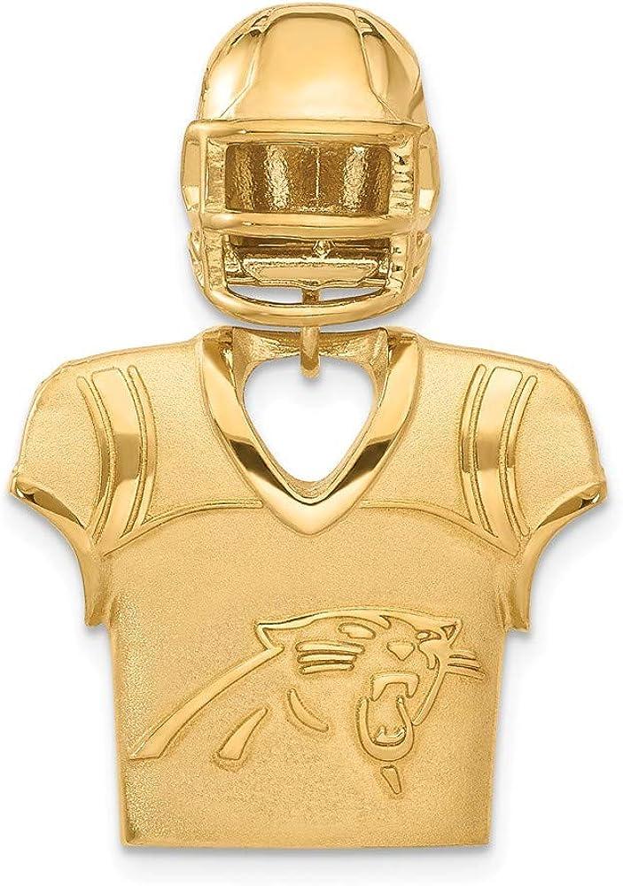 NFL Sterling Silver GP Carolina Panthers Jersey and Helmet Pendant 610hPgp6eLLUL1000_