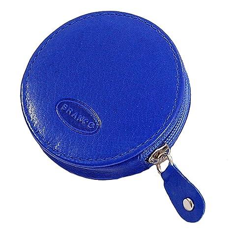 546cde32ece11 Branco runde Münzbörse Mini Leder Geldbörse Geldbeutel Portemonnaie  Partybörse Börse GoBago (Blau)