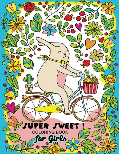 Super Sweet !: Coloring Book for Girls Fun and Relaxing Designs of Animal and (Star Cat Figurine)