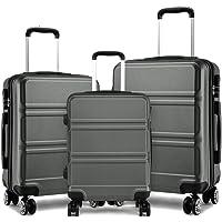 """Kono Travel Trolley en ABS avec 4 Roues, Set de valises avec Serrure à Combinaison 20""""24"""" 28"""""""