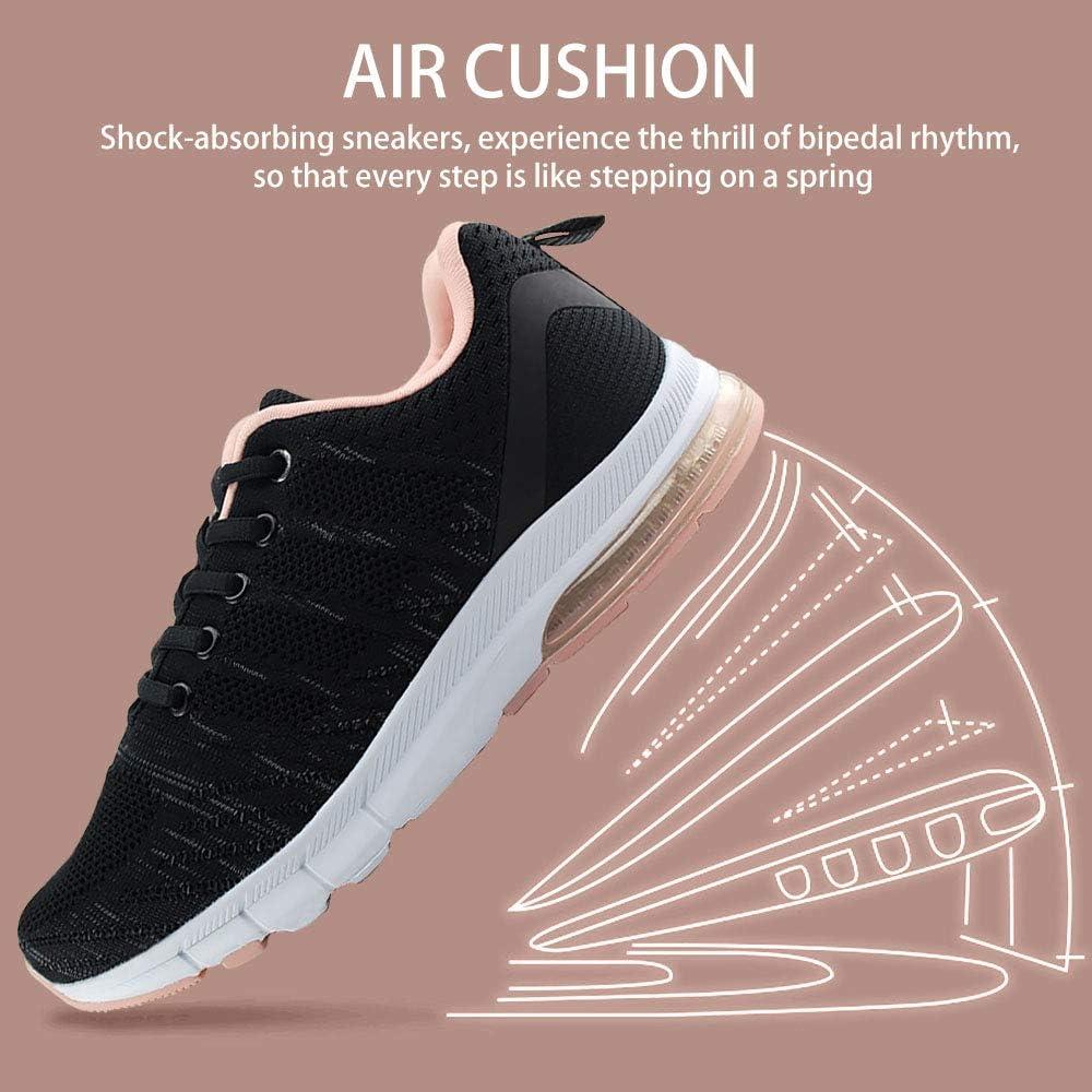 JABASIC Women Air Cushion Sneakers Lightweight Running Tennis Shoes