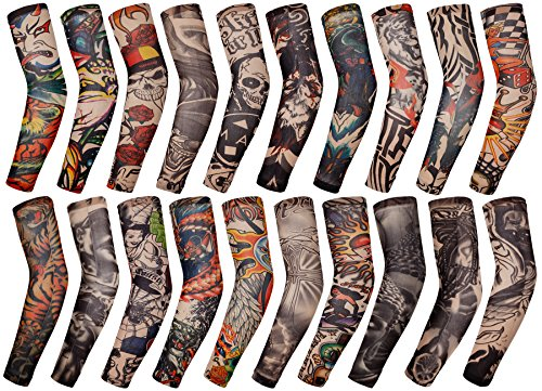 YiZYiF Fake Slip On Tattoo Arm Stockings Sleeves Body Art Accessories (20 -
