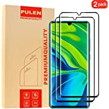 [2-Pack] PULEN for Xiaomi Mi Note 10/Note 10 Pro and Xiaomi Mi Note 10 Lite Screen Protector,Full Screen Coverage Anti-Scratch Bubble Free 9H Hardness Tempered Glass(Black)