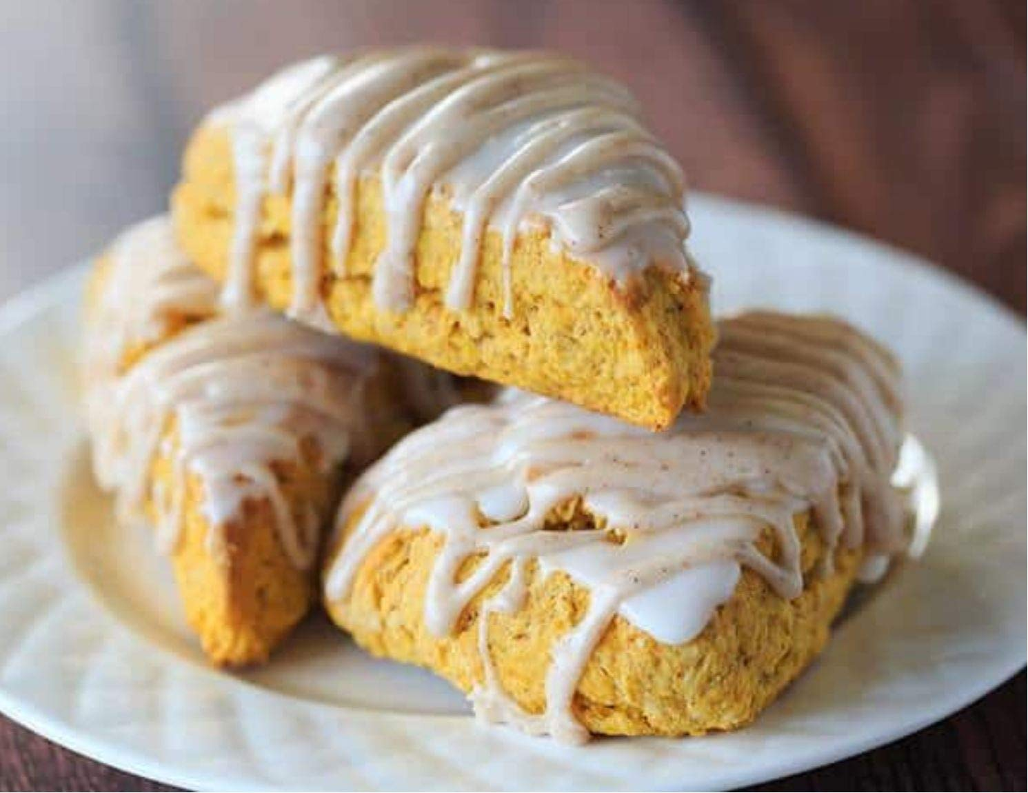 Sticky Fingers Pumpkin Spice with Vanilla Cream Glaze Scone Mix, 1 lb. (2 Pack)