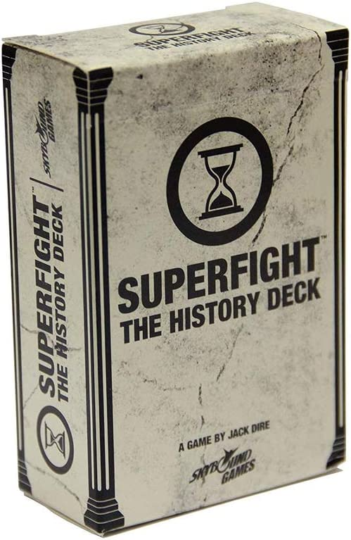 Superfight History Deck: 100 Historical Themed Cards for The Game of Absurd Arguments  Family Friendly Game of Super Powers & Super Problems, for Kids Teens Adults, 3 or More Players, Ages 8+