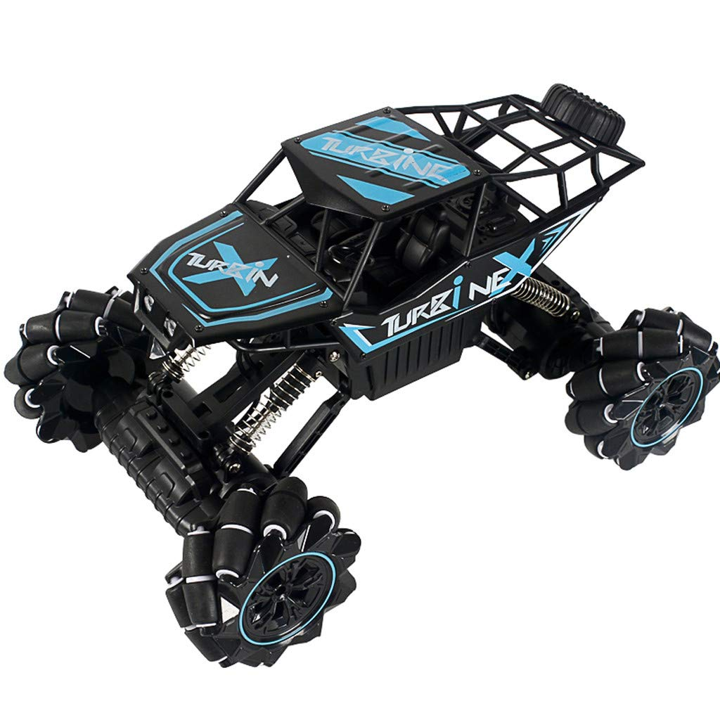 CreazyBee 1:12 2.4G Remote Control Off-Road Vehicle Truck High Speed RTR Buggy RC Car with Music Light (Blue) by CreazyBee