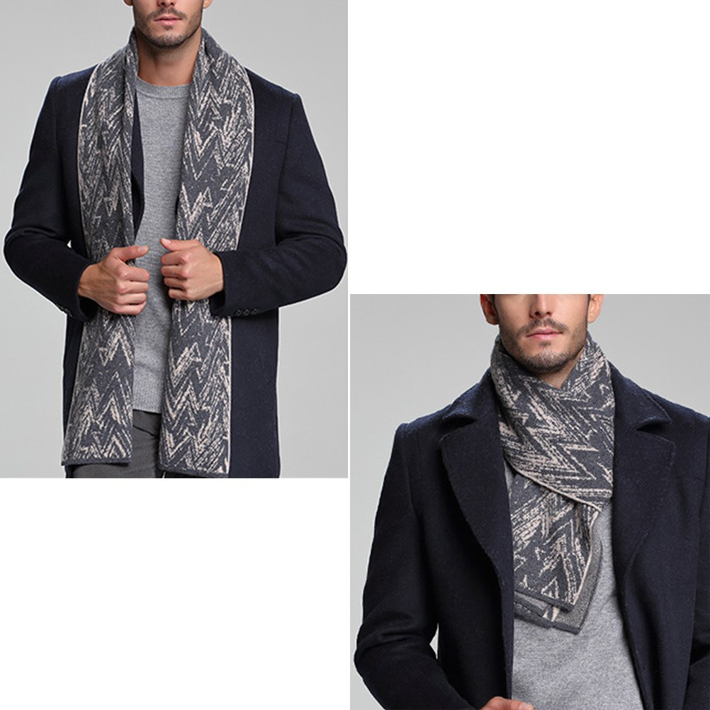 Zhhlinyuan 70x12 Warm Wool Blend Scarf Neck Scarf for Grandma Father Mother