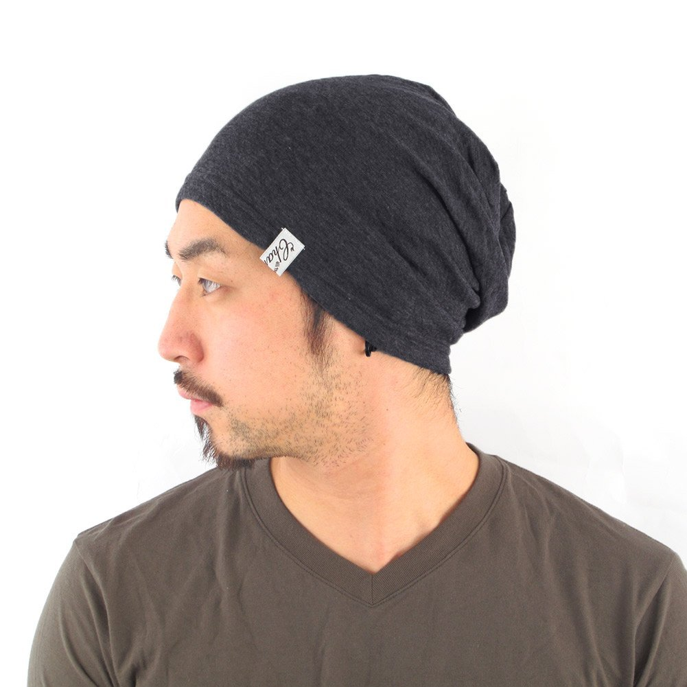 Casualbox Knit Beanie ORGANIC Cotton Beanie for Men and Women MADE In JAPAN Dark Gray M