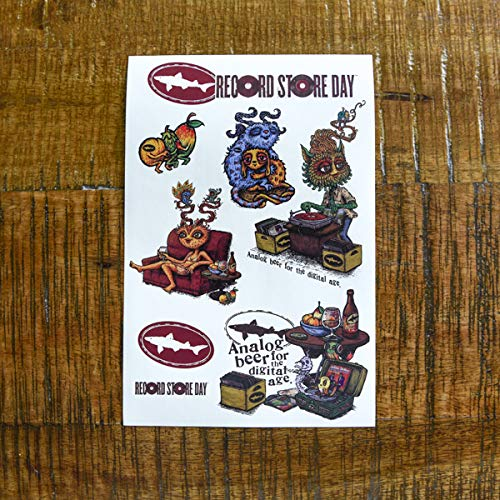 (Dogfish Head Brewery - Record Store Day Sticker Sheet - 8 Stickers)
