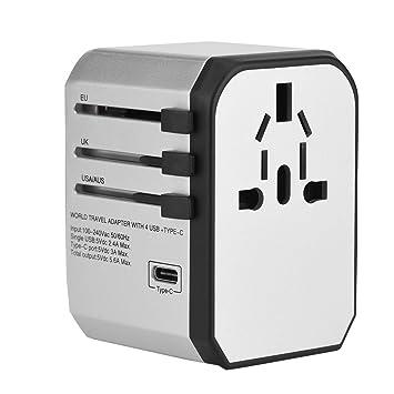Zerone Adaptador de Cargador de Viaje Universal de Pared USB ...