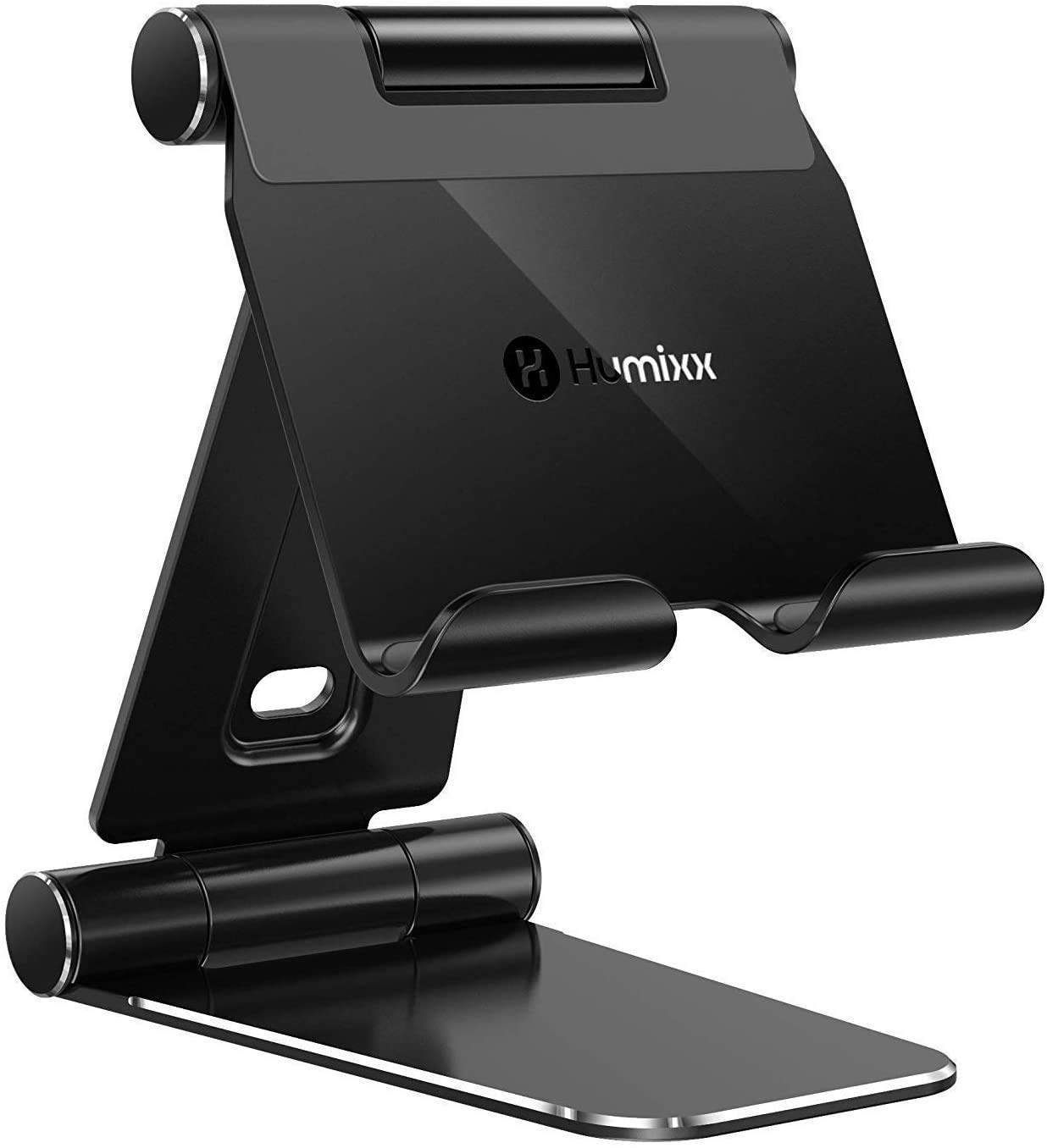 Humixx Tablet Stand [2021 Upgraded], Foldable & Adjustable Desktop Tablet Stand Holder [Sturdy No-Slip/ Shaking], Compatible with iPad Pro 12.9 Mini Air Samsung Kindle Switch Pad 4-13 Inch Tablets
