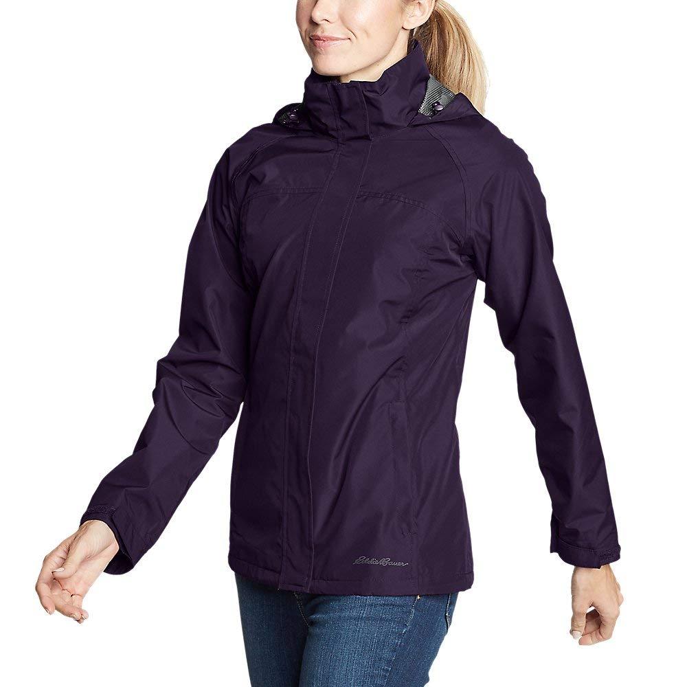 Eddie Bauer Women's Rainfoil Packable Jacket, Deep Eggplant Petite S by Eddie Bauer
