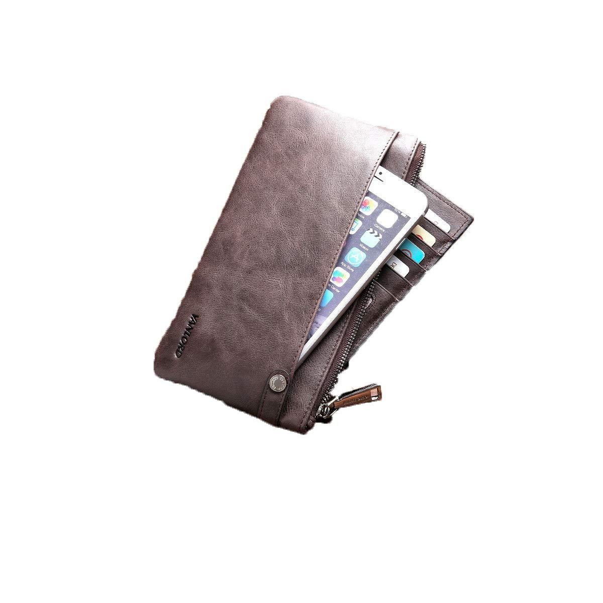 Extra Capacity Travel Wallet Love Gift 8haowenju 2 ID Window RFID Wallet for Men Bifold Side Flip