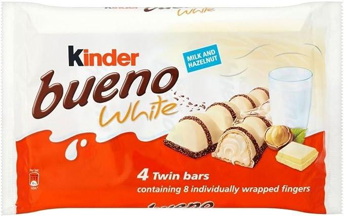 Kinder Bueno Barras Gemelas De Chocolate Blanco (4X43g): Amazon.es ...