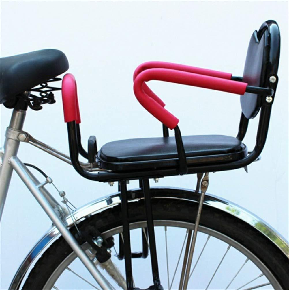 Dbtxwd Bike Rear Seat Kids Cushion Footrest Set Child Bike Back Seat Armrest Seat Cushion Detachable Fence Armrest and Pedal