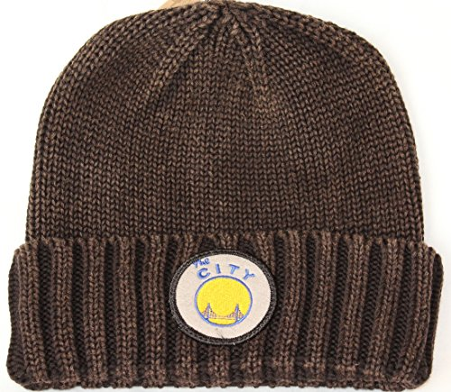 Mitchell & Ness San Francisco Warriors NBA Hardwood Classics Ribbed Cuff Knit Hat