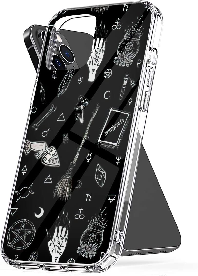 Phone Case Witchy Compatible with iPhone 6 6s 7 8 X XS XR 11 Pro Max SE 2020 Samsung Galaxy Waterproof Bumper Charm