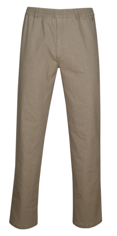 T-MODE Herren Jeans Stretch Schlupfhose Schlupfjeans ohne Cargo-Taschen