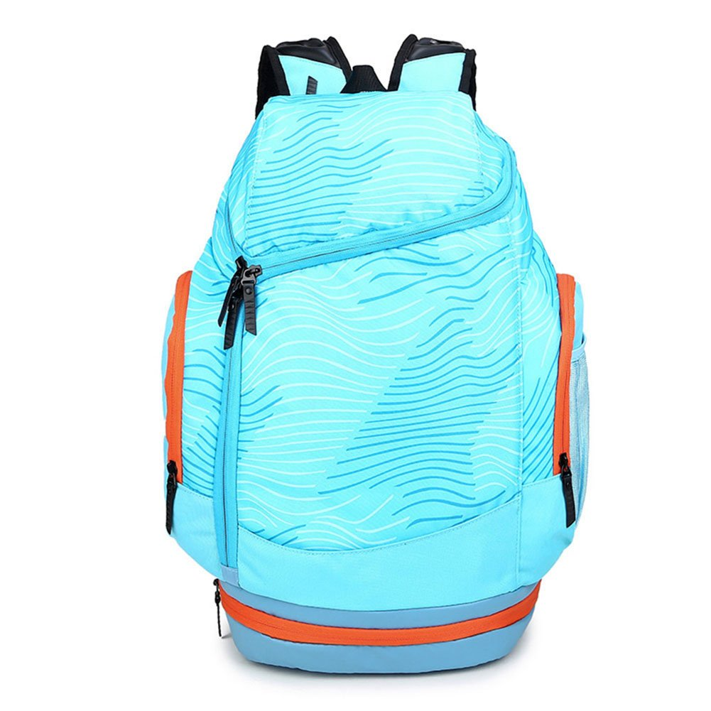 Sports Backpack with Basketball/Shoe Compartment, GoFar Large School Bag Travel Rucksack Team Gym Backpack for Men Women Fits 15.6-inch Laptop (Blue)