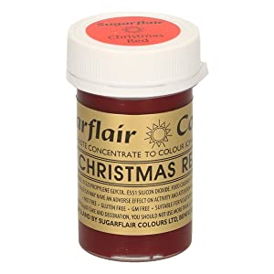 Valentines day, Red Sugarflair Spectral concentrated paste, Food Colouring, cake decoration- Chrsitmas Red. by Culpitt