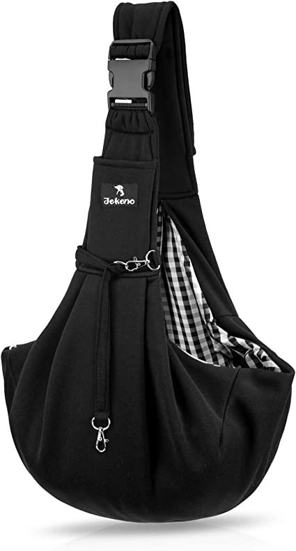 Jekeno Small Dog Sling Cat Carrier - Super-Thick Pet Sling Carrier