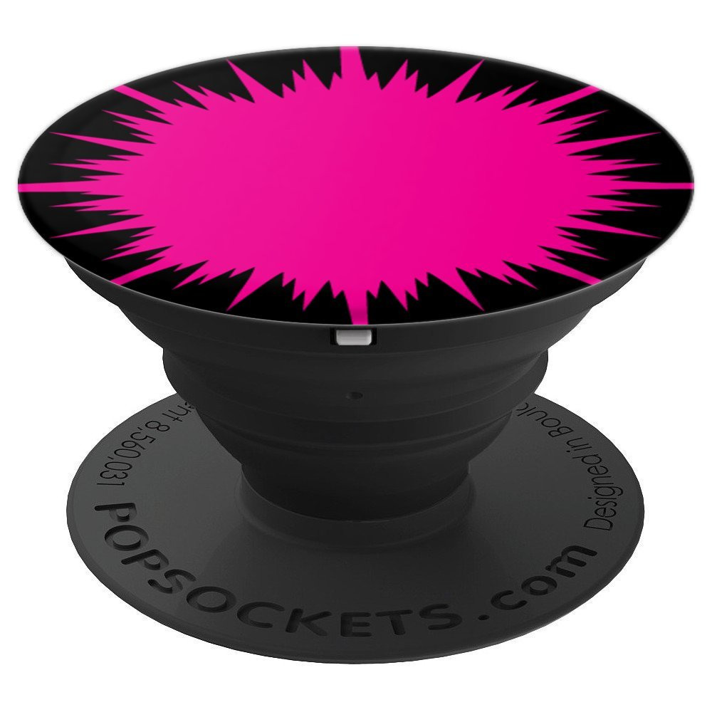 Pink Craziness ink splash - PopSockets Grip and Stand for Phones and Tablets