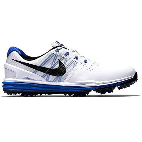 4141af0bab87 NEW Nike Lunar Control 3 Golf Shoes White Lyon Blue Black 8 M  Amazon.ca   Shoes   Handbags
