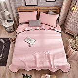 Air Conditioning Quilt Washed Cotton Sanding Embossing Process Summer Cool Blanket Apply To Home (Size : 180200cm)
