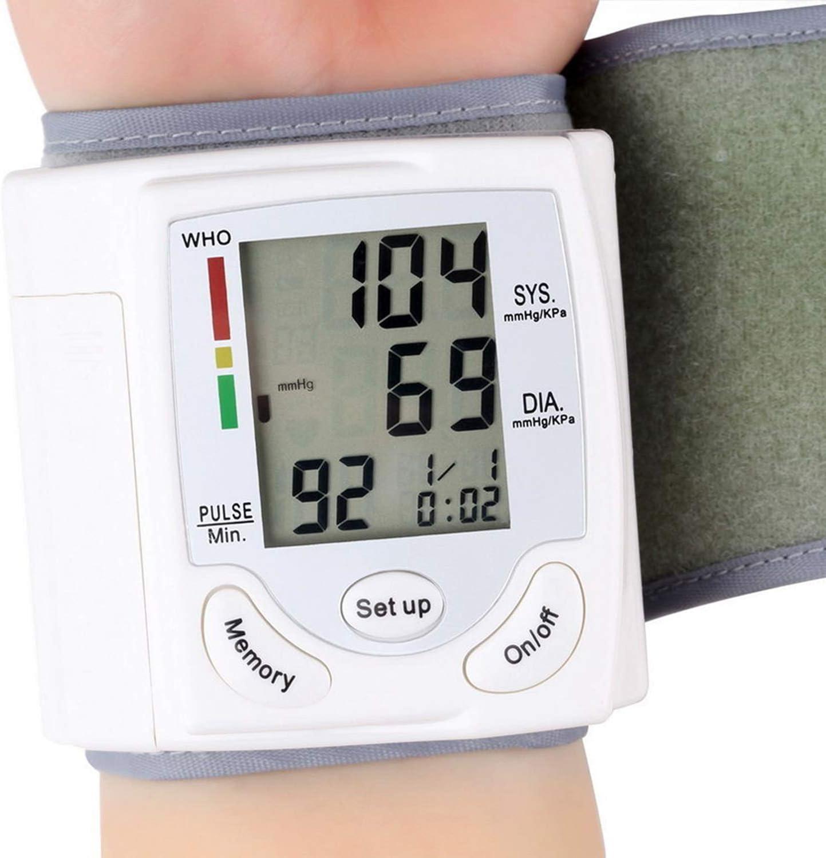 Tensiómetro de Brazo, Tensiómetro de Brazo Digital con Detección de Arrítmia y Pantalla Gran Pantalla LCD retroiluminada, 2 Memorias de Usuario(2 * 99)