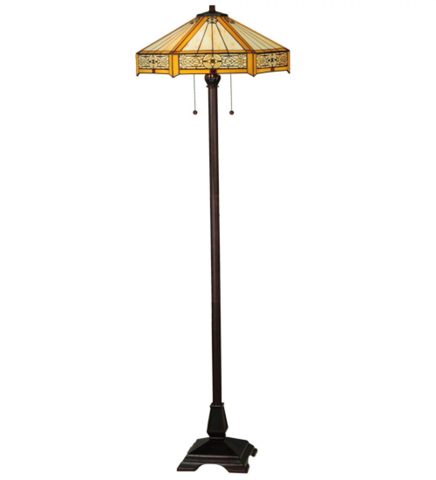 StarSun Depot 62'' H Peaches Floor Lamp Dry
