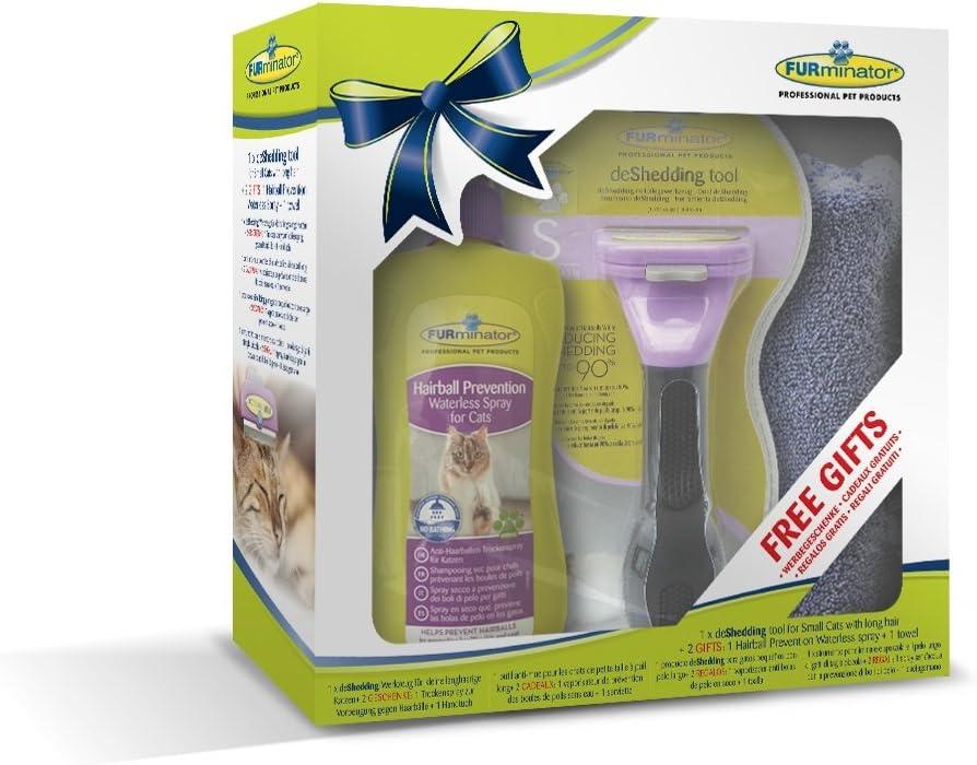 FURminator deShedding Tool para gatos pequeños de pelo corto ...