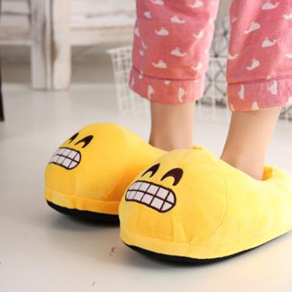 BP@ Pantoufles en Peluche int/érieure Pantoufles Hiver pour Les Hommes et Les Femmes Pantoufle Peluche Smiley Emoji Slipper No/ël. 31-41CN, Cool