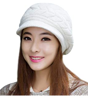 b7fd2bee45e HINDAWI Winter Scarf Hat Visor Caps Infinity Scarves Knit Warm Snow Hats  Women