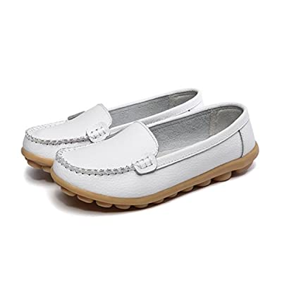 Women's Soft Comfort Leather Loafers Slip On Driving Walking Flats Shoes
