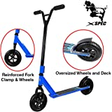 Xspec Aluminum Pro Stunt Off Road Kick Scooter, Oversized BMX Handlebars with 3-Bolt Clamp, Freestyle Fun Kids Outdoor Sports