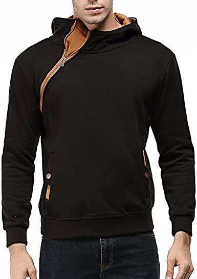 Casual Outdoor and Fashion Mens Pocket Hooded Sweater