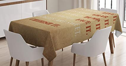 Amazon Ambesonne Quotes Decor Tablecloth Inspirational Quotes