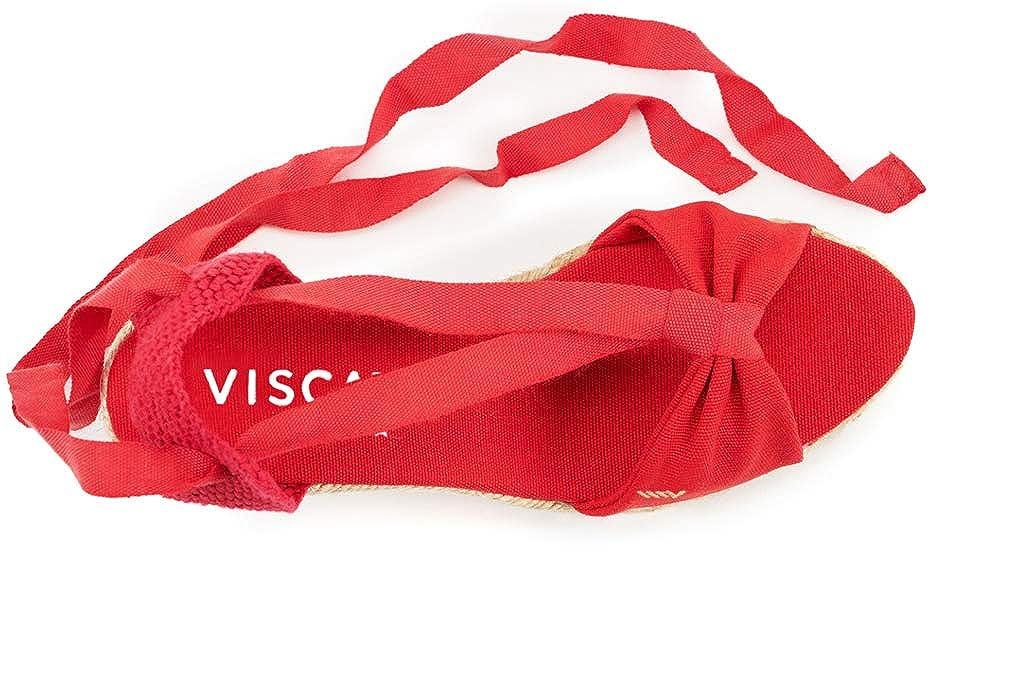 VISCATA Tossa Espadrilles Femme talon de 6,5 cm compense elegant Fabrique en Espagne